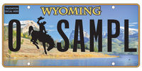 2017 Wyoming prestige plate design